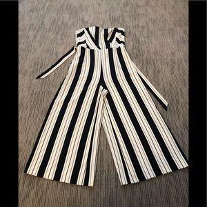 H&M navy striped jumpsuit... excellent condition.